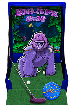 Blue Big Ape Golf Carnival Case Game Without Legs