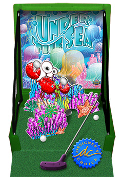Green Under The Sea Golf Carnival Case Game Without Legs