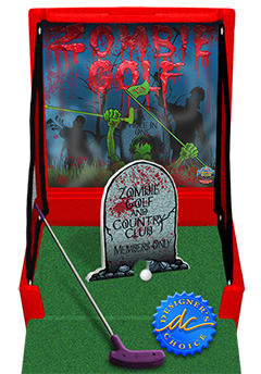 Red Zombie Golf Carnival Case Game Without Legs