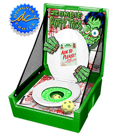 Green Zombie Potty Toss Carnival Case Game Without Legs