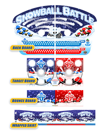 Snowball Battle Bounce A Ball Graphics Package