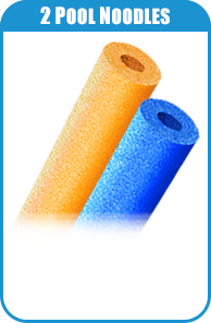 2 Pool Noodles For Carnival Game