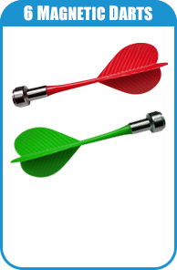 6 Magnetic Darts For Carnival Game