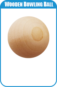 Wooden Bowling Ball For Carnival Game