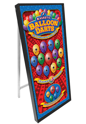 Magnetic Balloon Darts Standup Carnival Game